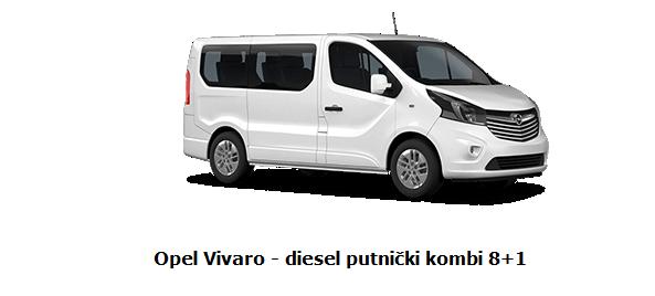 Rrent a car kombi vivaro 8+1